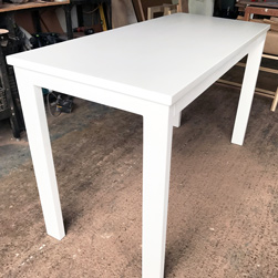 Malibu Table - White finish table and base