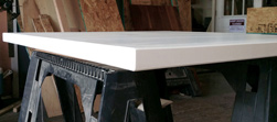 Stockton Table - Square table top in white finish
