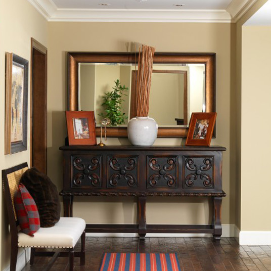 Decor mirror for entryway furniture