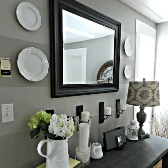 custom mirror for entryway foyer table entry organizer