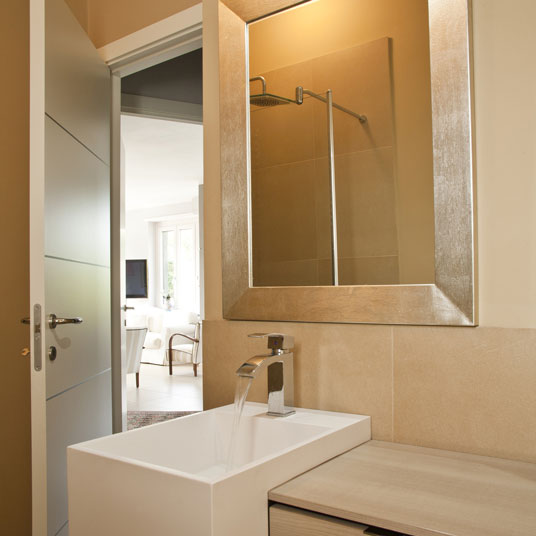 Custom golder silver framed bathroom mirror
