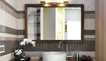 Espresso bronze frame mirror