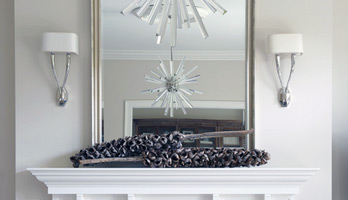 Custom sized mirror for fireplace mantle