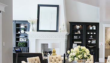 Decor mirror over fireplace mantle