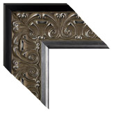 Silver Black Framed Mirrors