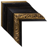 Black Gold Framed Mirrors