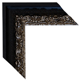 Black Silver Framed Mirrors