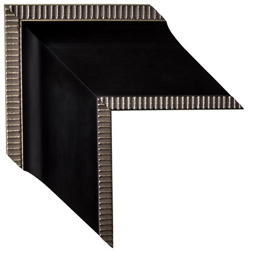 Mal 0431 Black Silver Framed Mirror Large Mirror