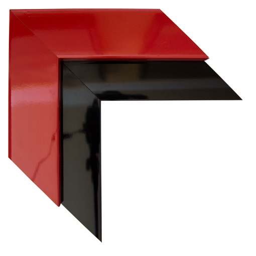 Mal 0438 Red Black Framed Mirror Large Mirror