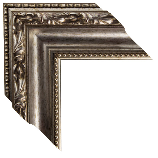 Mal 0576 gold silver framed mirror large mirror for Wide framed mirror