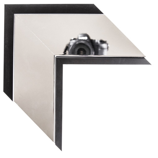 Mal 0641 Silver Black Framed Mirror Large Mirror