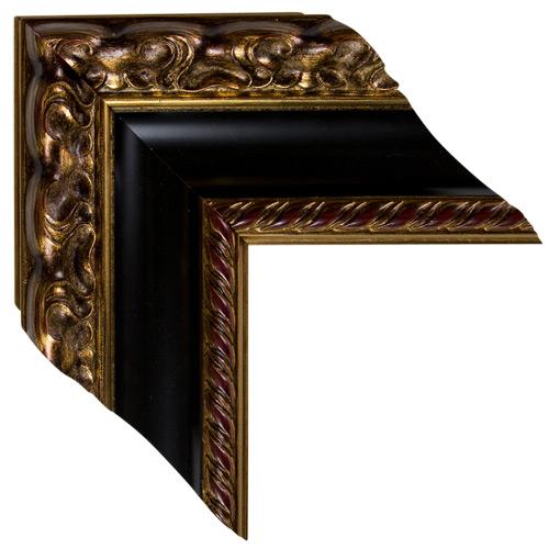 Mal 0685 Black Gold Framed Mirror Large Mirror