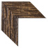 deep distressing oak with dark walnut highlights simulating rustic tree bark mirror frame