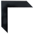 textural lacquered gloss black with hand rubbed edges chalkboard frame