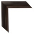 smooth espresso finish mirror frame